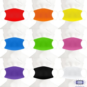 Solid Color Face Mask - Personalizable