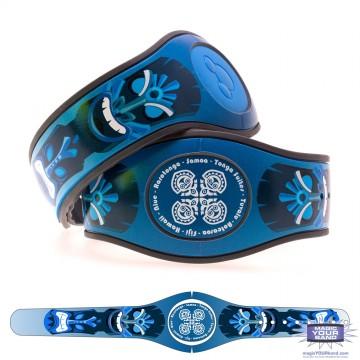 Tiki God (Blue) MagicBand 2 Skin