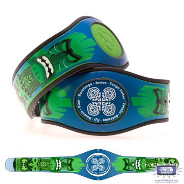 Tiki God (Green) MagicBand 2 Skin