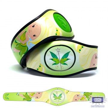 Pretty Green Fairy MagicBand 2 Skin