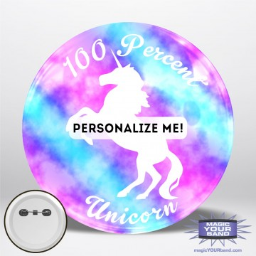 100% Unicorn Button
