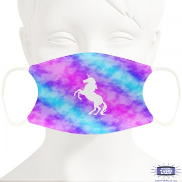 Unicorn Cloud Face Mask - Personalizable