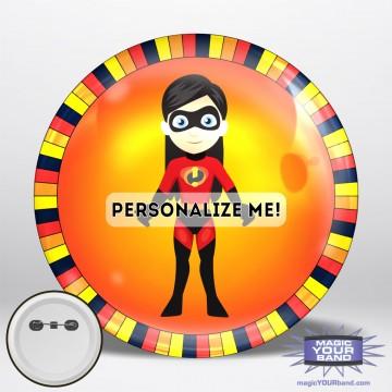 Superhero Girl Button