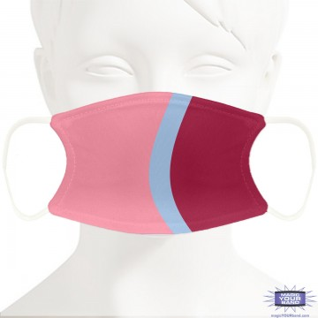 Bubblegum Wall Design Face Mask - Personalized