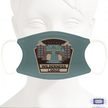 Wilderness Lodge Resort Inspired Design Face Mask (light) - Personalized
