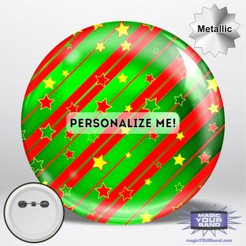 Metallic Christmas Wrapping Button