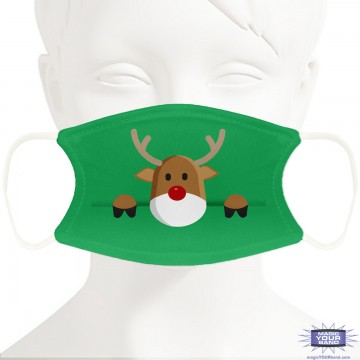 Rudolf Design Face Mask - Personalized