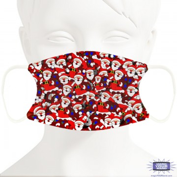 Santa Pattern Face Mask - Personalized