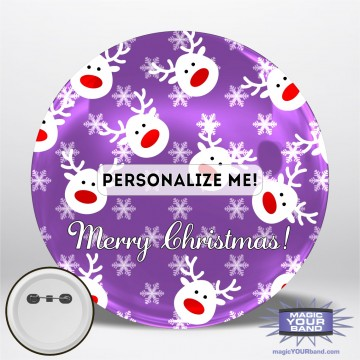 Christmas Reindeer (Green) Personalizable Park Button