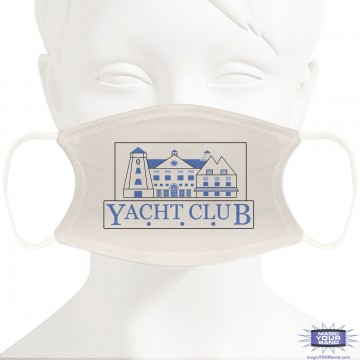 Yacht Club Inspired Design Face Mask - Personalized