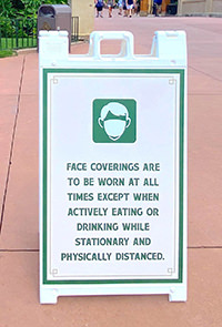 Disney Face Covering Policy